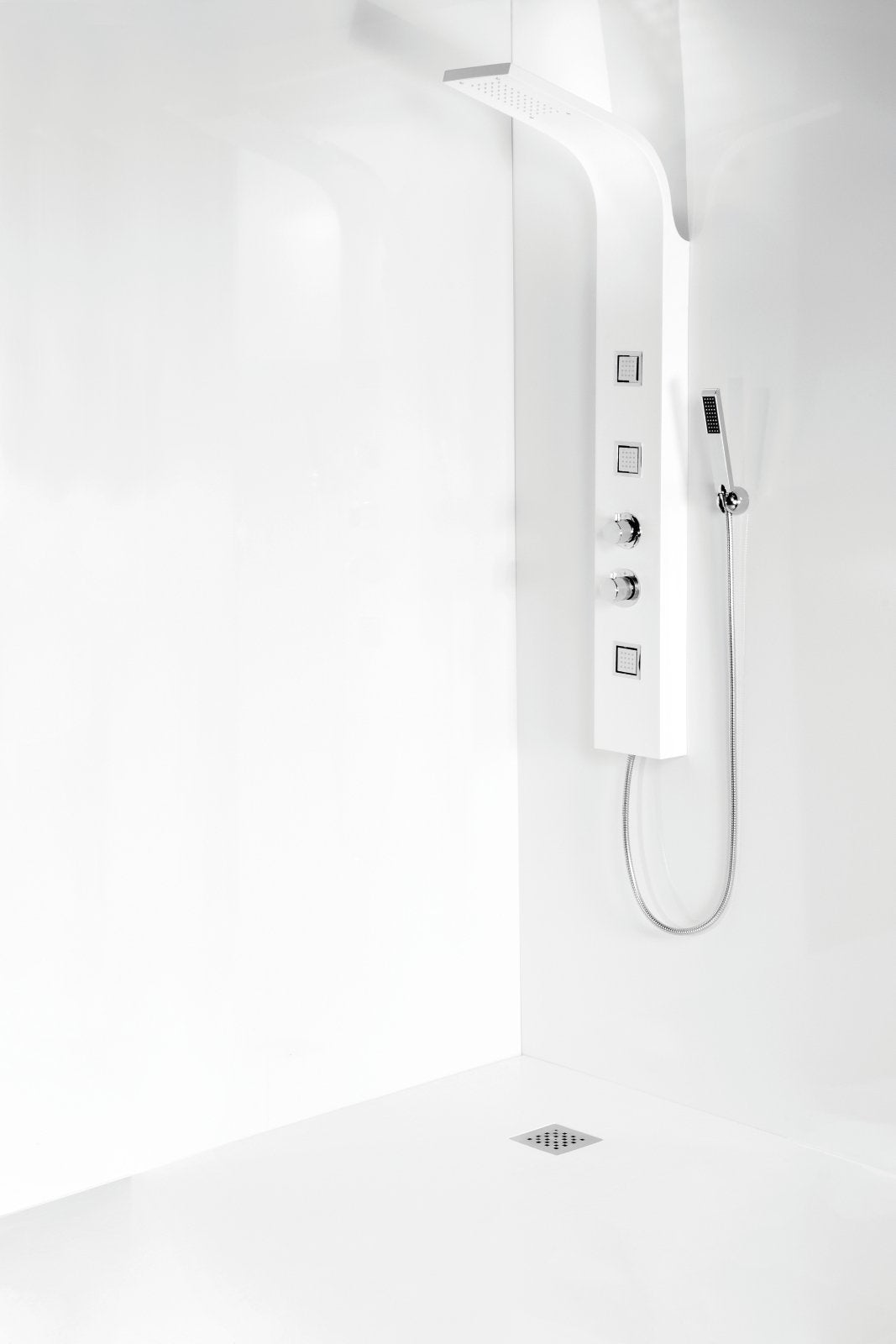 Cassellie Luna Thermostatic Shower Panel - White