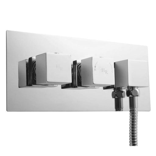 CLEARANCE Hudson Reed Kubix Concealed Shower Valve with Diverter Dual Handle - Chrome