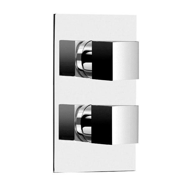 Cassellie Istria Dual Concealed Square Shower Valve - Chrome