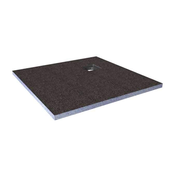 Abacus Direct Tileable Square Shower Tray 1200 x 1200 x 30mm Corner Drain