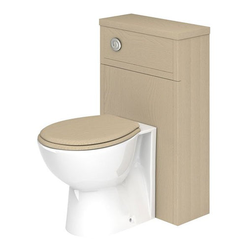 Essential HAMPSHIRE WC Unit, 500mm Wide x 252mm Deep, Stone Grey