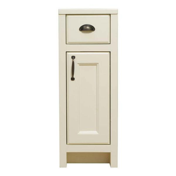 Cassellie Chartwell 1-Door & 1-Drawer Storage Unit - 300mm Wide - Vanilla