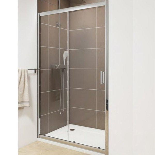 Cassellie Seis Sliding Shower Door - 1400mm Wide - 6mm Glass