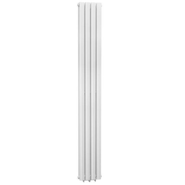 Cassellie Celsius Double Panel Designer Vertical Radiator - 1800mm High x 236mm Wide - White