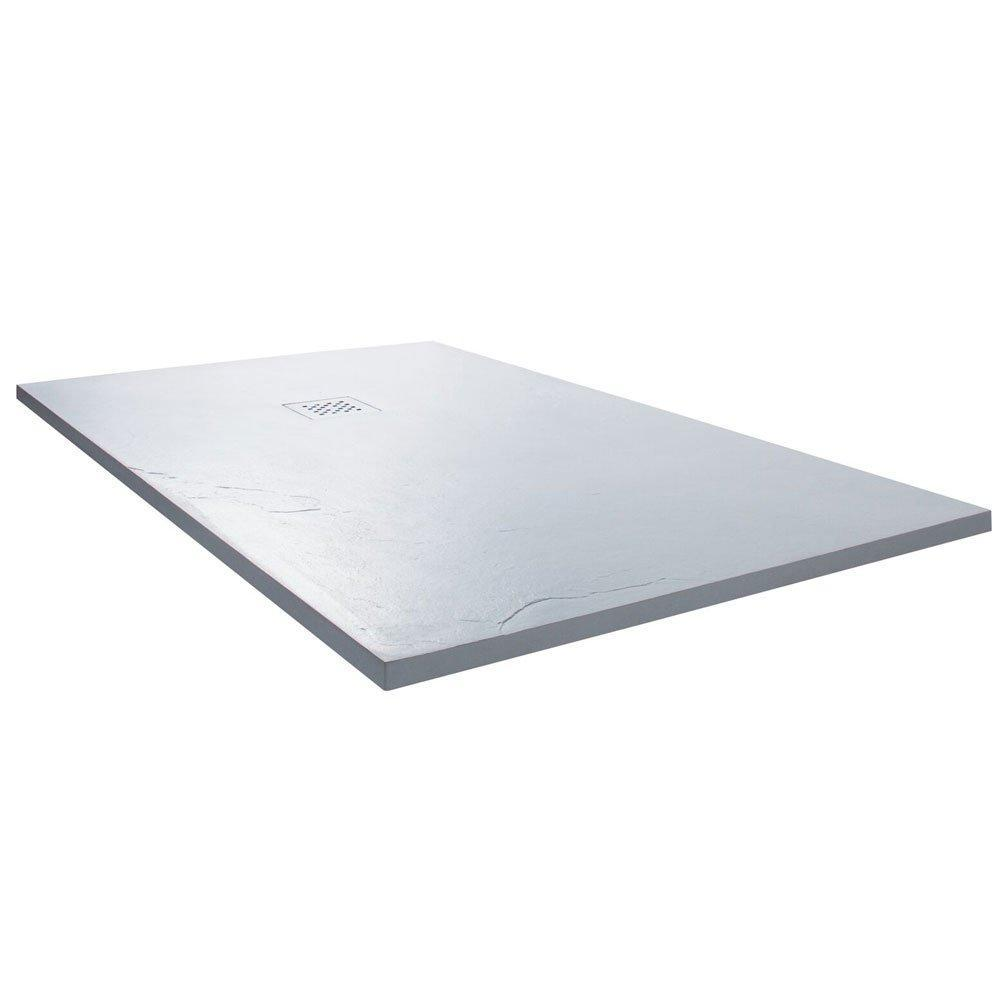 Cassellie Rectangular Slate Shower Tray with Waste 1200mm x 800mm - White