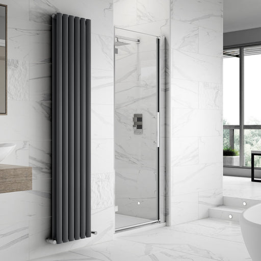 CLEARANCE Premier Apex Hinged Shower Door 700mm Wide - 8mm Glass