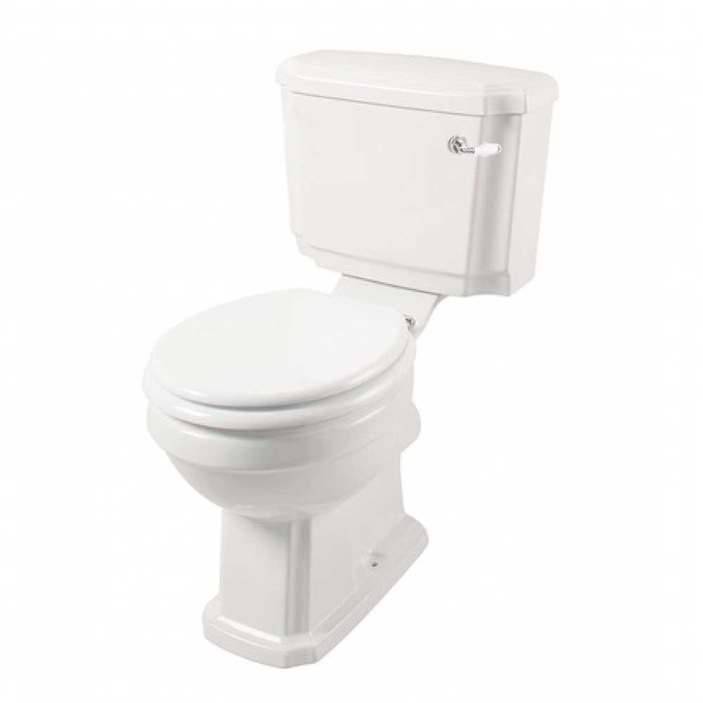 Cassellie Cromford Traditional Closed Coupled Toilet with Lever Cistern - Excluding Seat