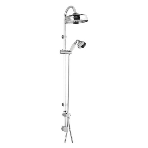 CLEARANCE Hudson Reed Traditional Shower Riser Kit with Drencher Head, Handset and Elbow, Chrome