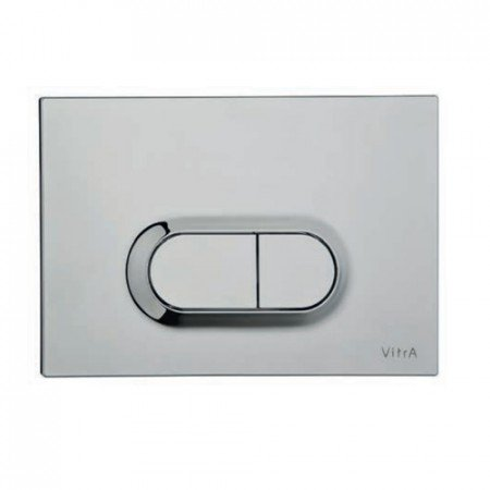 Vitra Loop O Dual Flush Plate (Matt Chrome Plated)
