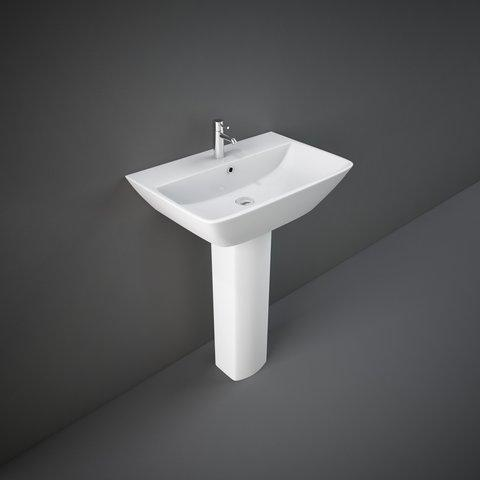 RAK Summit Basin & Full Pedestal 600mm Wide 1 Tap Hole