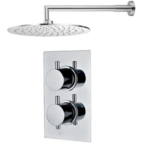 Abacus Emotion Thermostatic Round Shower & Round Overhead