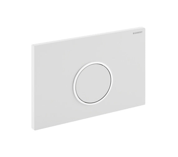 Geberit SIGMA10 Single Flush Plate, for 80mm and 120mm Sigma Cisterns, White/Gloss Chrome