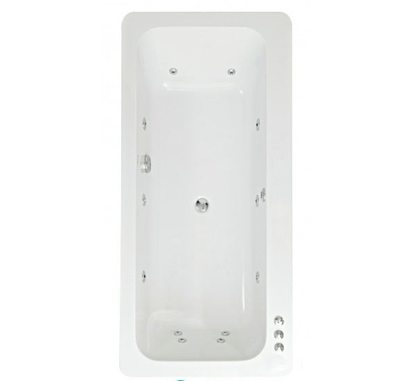 Phoenix Clio - 1800 x 850mm Amanzonite Whirlpool Bath - BH013S1