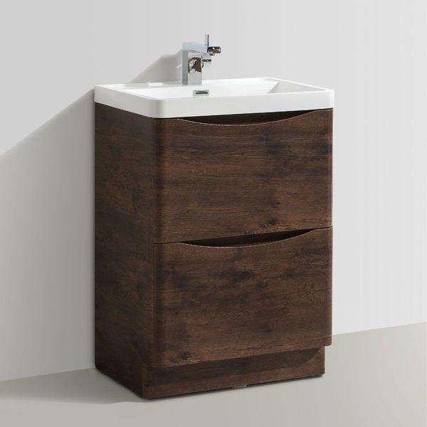 Cassellie Bali 2-Drawers Vanity Unit with Basin - 600mm Wide - Chestnut