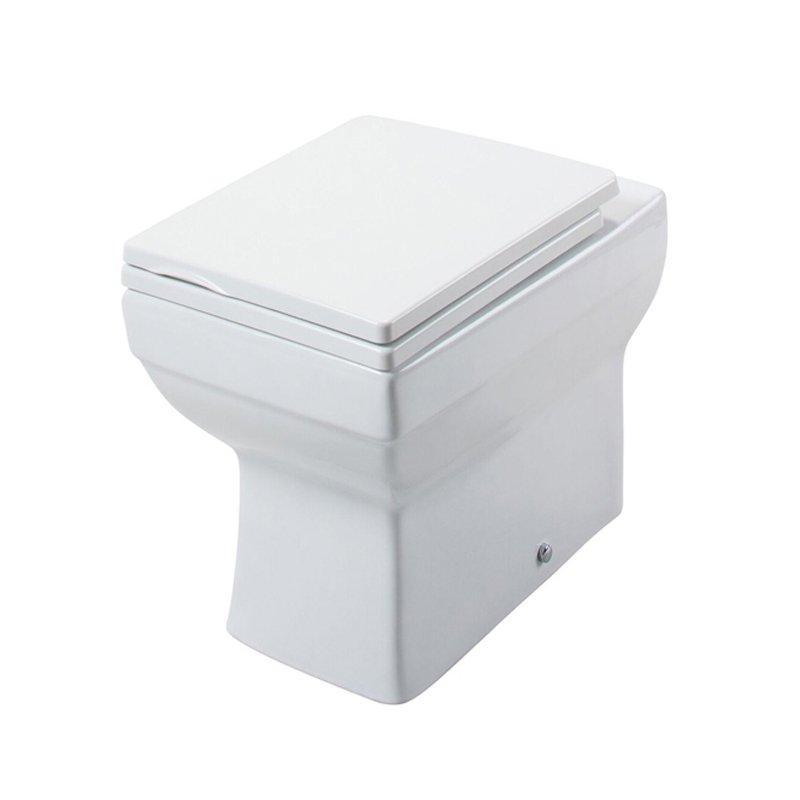 Cassellie Dice Square Back to Wall Toilet - Quick Release Soft Close Seat