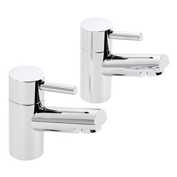Cassellie Dalton Bath Pillar Taps - Pair - Chrome