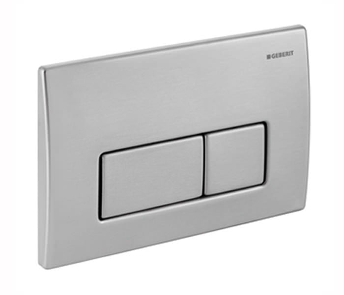 Geberit KAPPA50 Dual Flush Plate, for 150mm Kappa Cistern, Stainless Steel