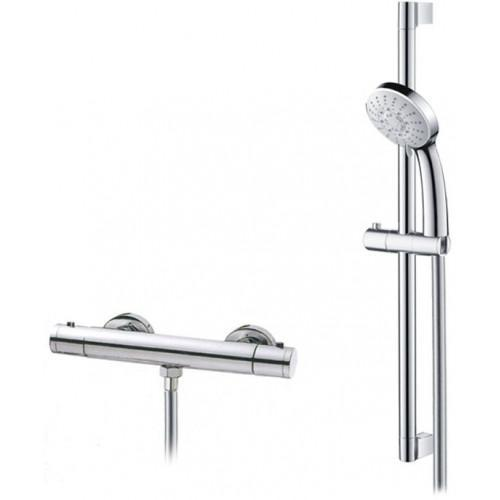 Abacus Emotion Exposed Thermostatic Bar Shower & Riser Rail