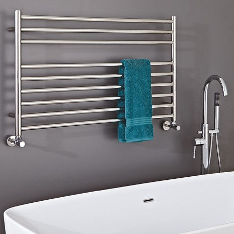 CLEARANCE Phoenix Zonta 1200 x 600mm Polished Stainless Steel Radiator