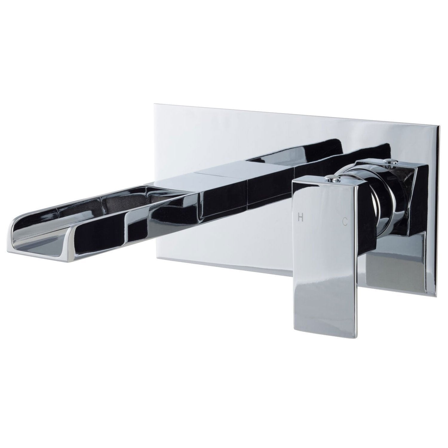 Cassellie Dunk Wall Mounted Basin Mixer Tap - Chrome