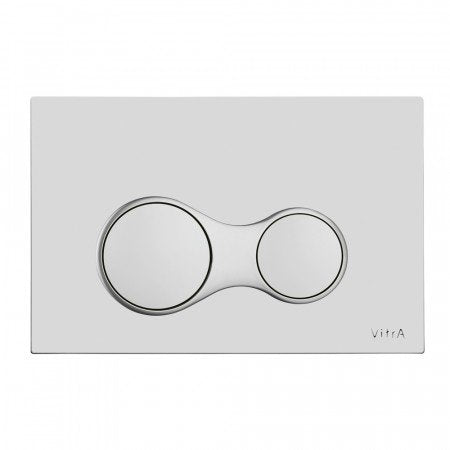 Vitra Sirius Dual Flush Plate (Matt Chrome Plated)