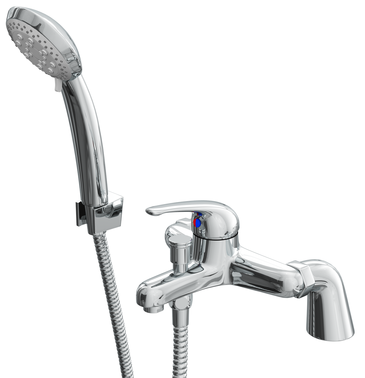Cassellie Rio Bath Shower Mixer Tap - Deck Mounted - Chrome