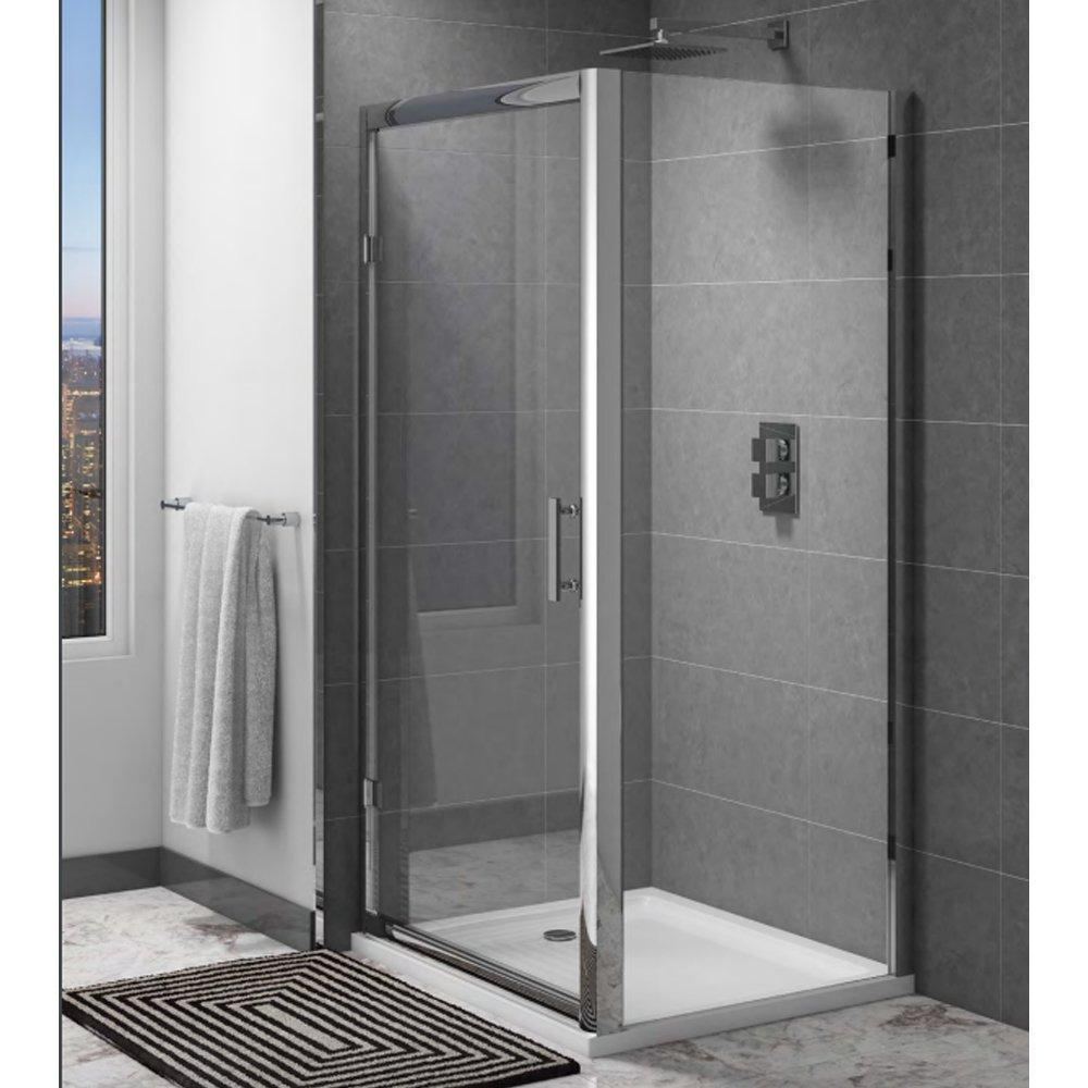 Cassellie Cass Six Hinged Shower Door 800mm Wide - 6mm Glass