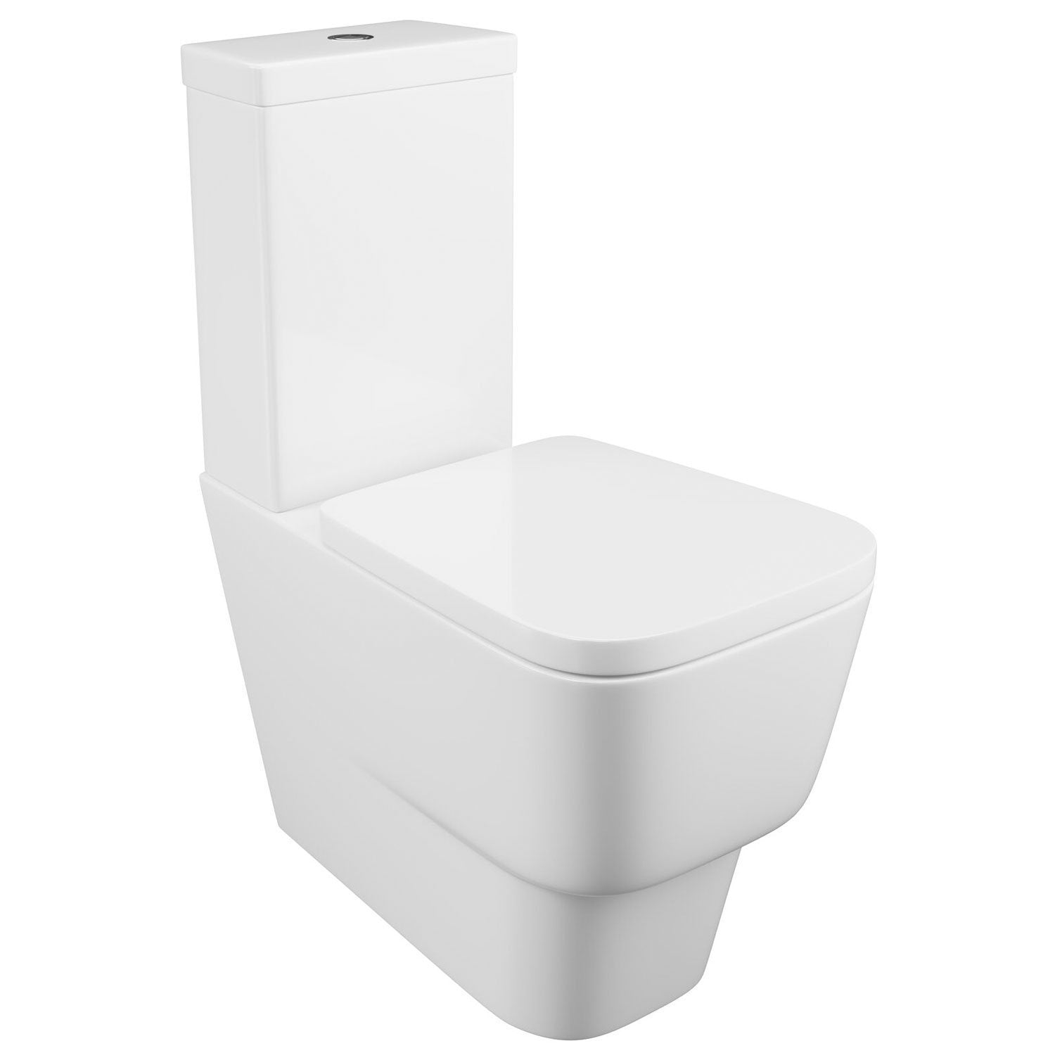 Cassellie Dearne Close Coupled Toilet with Push Button Cistern - Quick Release Soft Close Seat