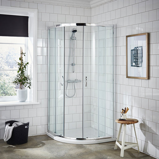CLEARANCE Premier Ella Quadrant Shower Enclosure 800mm x 800mm - 5mm Glass