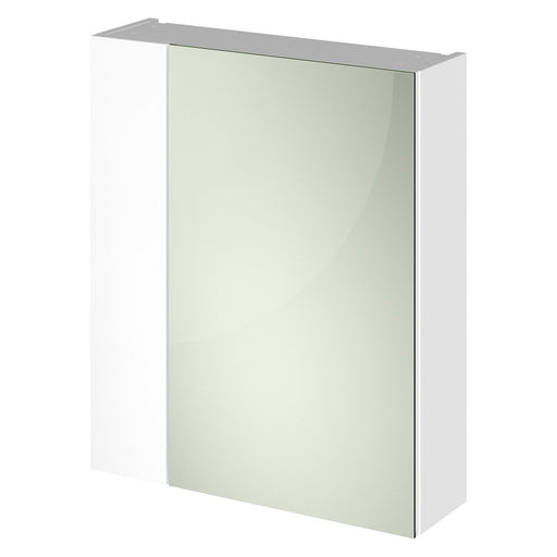 CLEARANCE Hudson Reed Fusion Mirror Unit (75/25) 600mm Wide - Gloss White