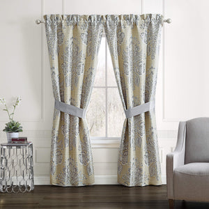 Loretta Window Curtain Panels with Tiebacks