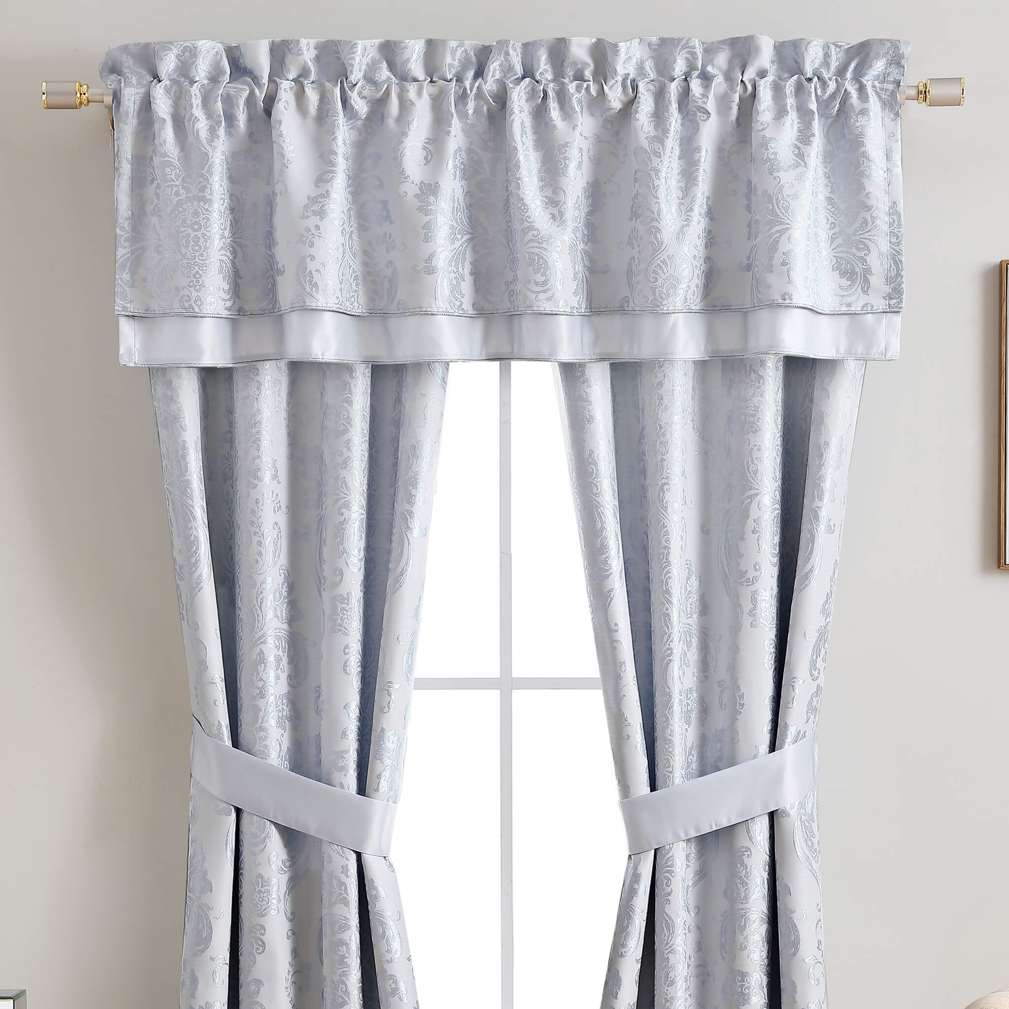 Mia Blue Canopy Window Valance