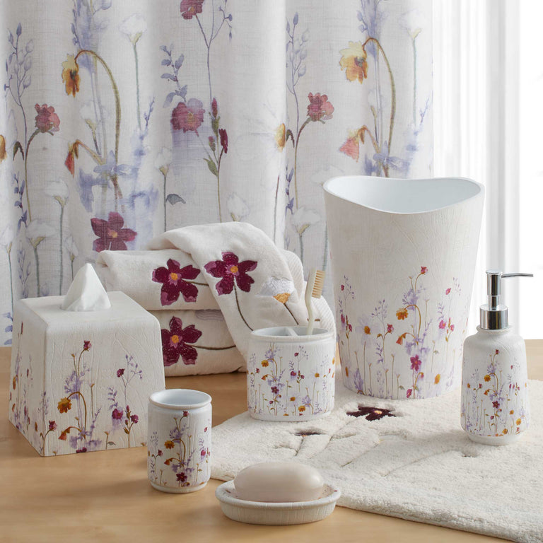 Pressed Flowers Bath Collection