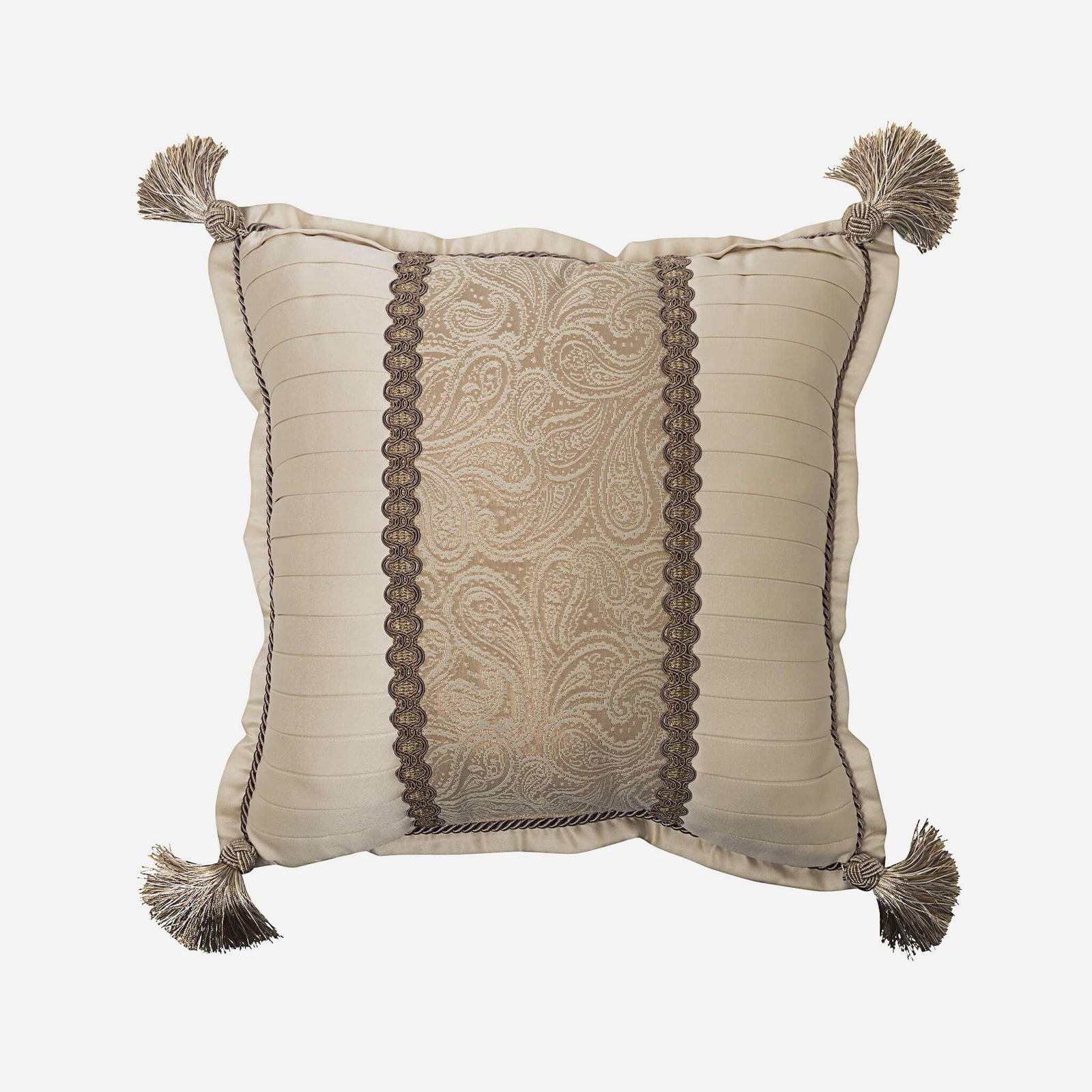Alexander 16 X 16 Reversible Fashion Pillow With Tassels Croscill