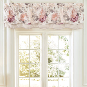 Bela Scalloped Double Layered Valance