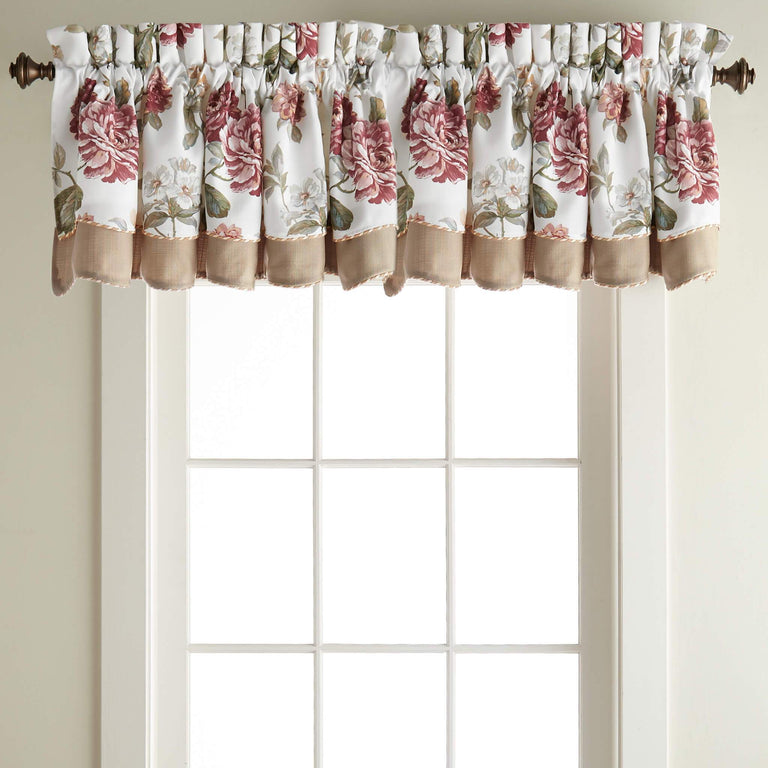 Fleur Scalloped Double Layered Valance