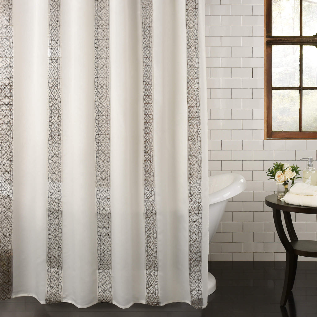 Waldorf Fabric Shower Curtain by Excell