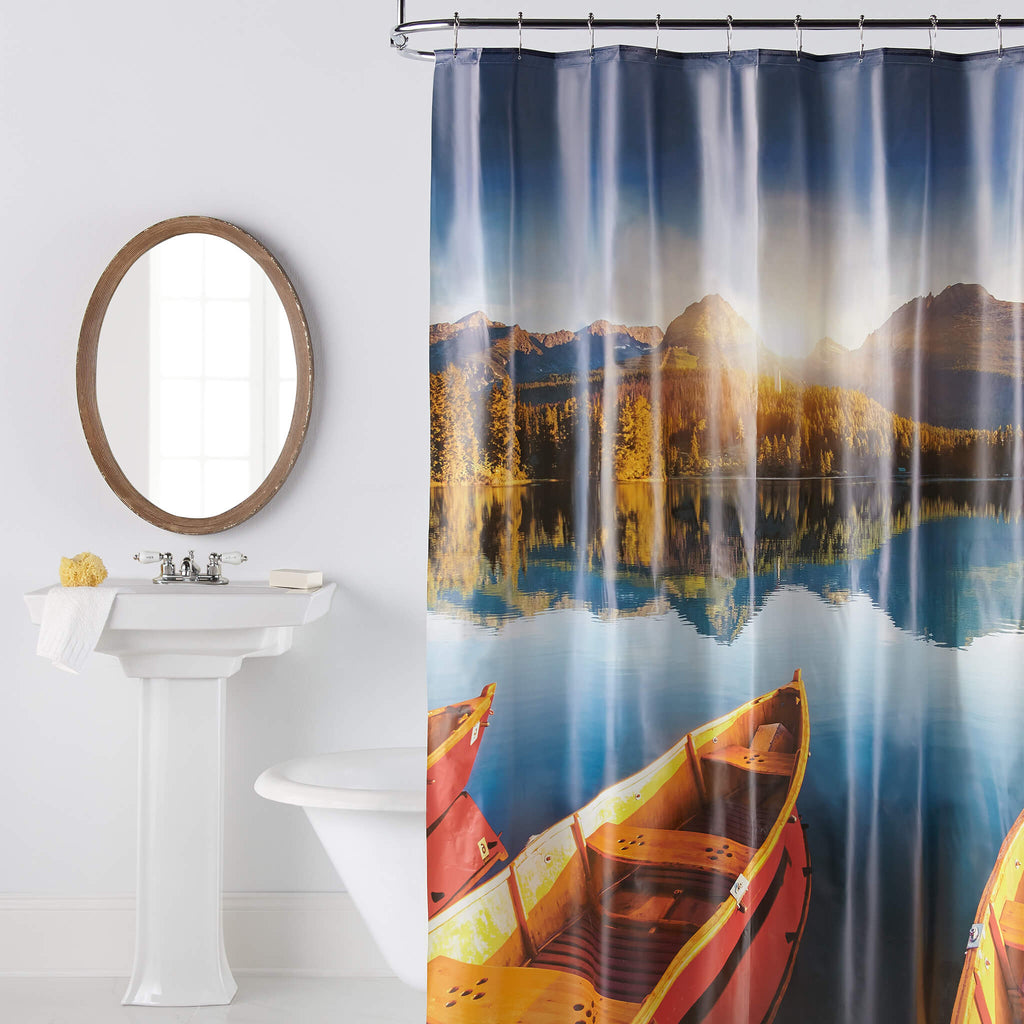 Kayaks Photoreal PEVA Shower Curtain by Excell