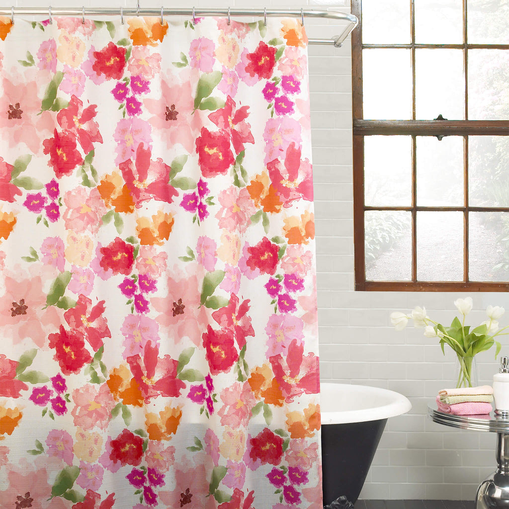 Posie Fabric Shower Curtain by Excell
