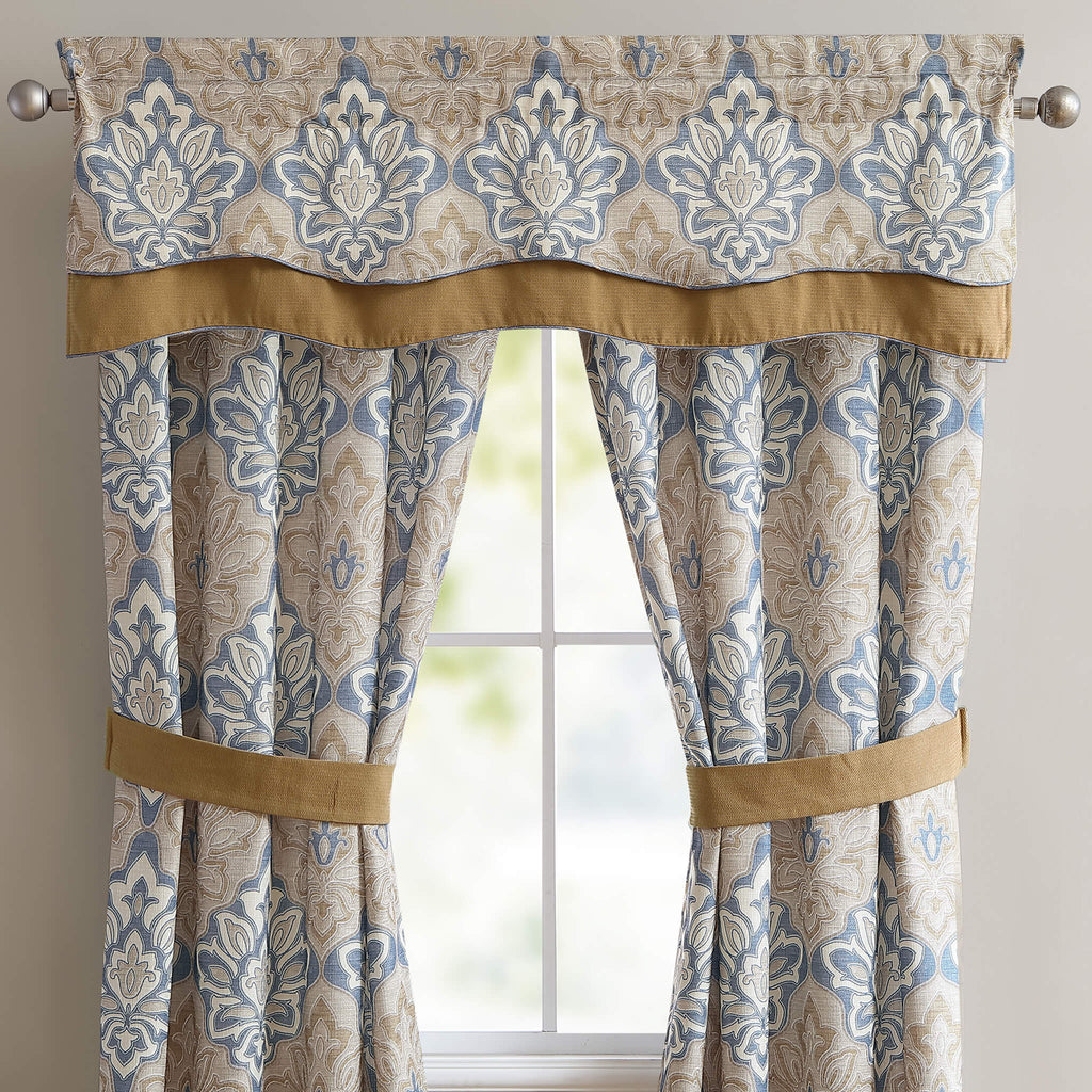 Captains Quarters Double Layered Straight Valance