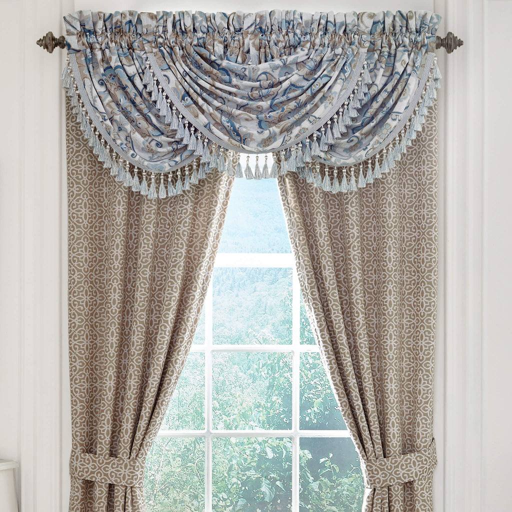 Emery Waterfall Swag Valance