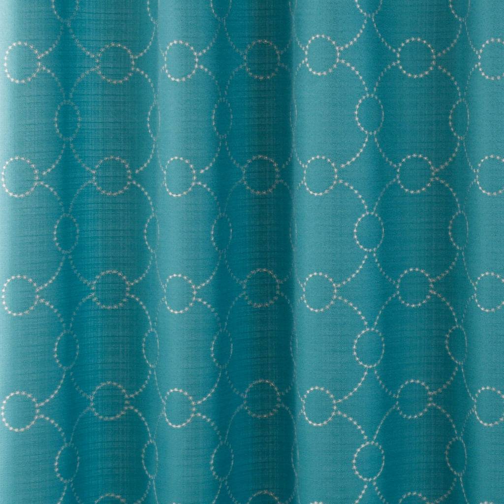 Skylar Teal Fabric Shower Curtain by Excell