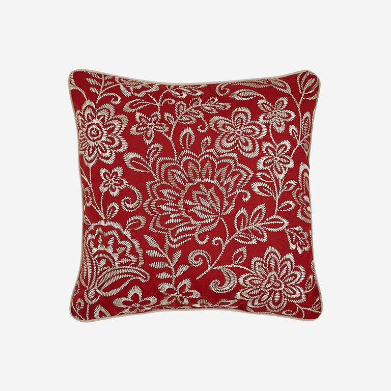 "Adriel Square 18"" x 18"" Pillow With Floral Pattern"