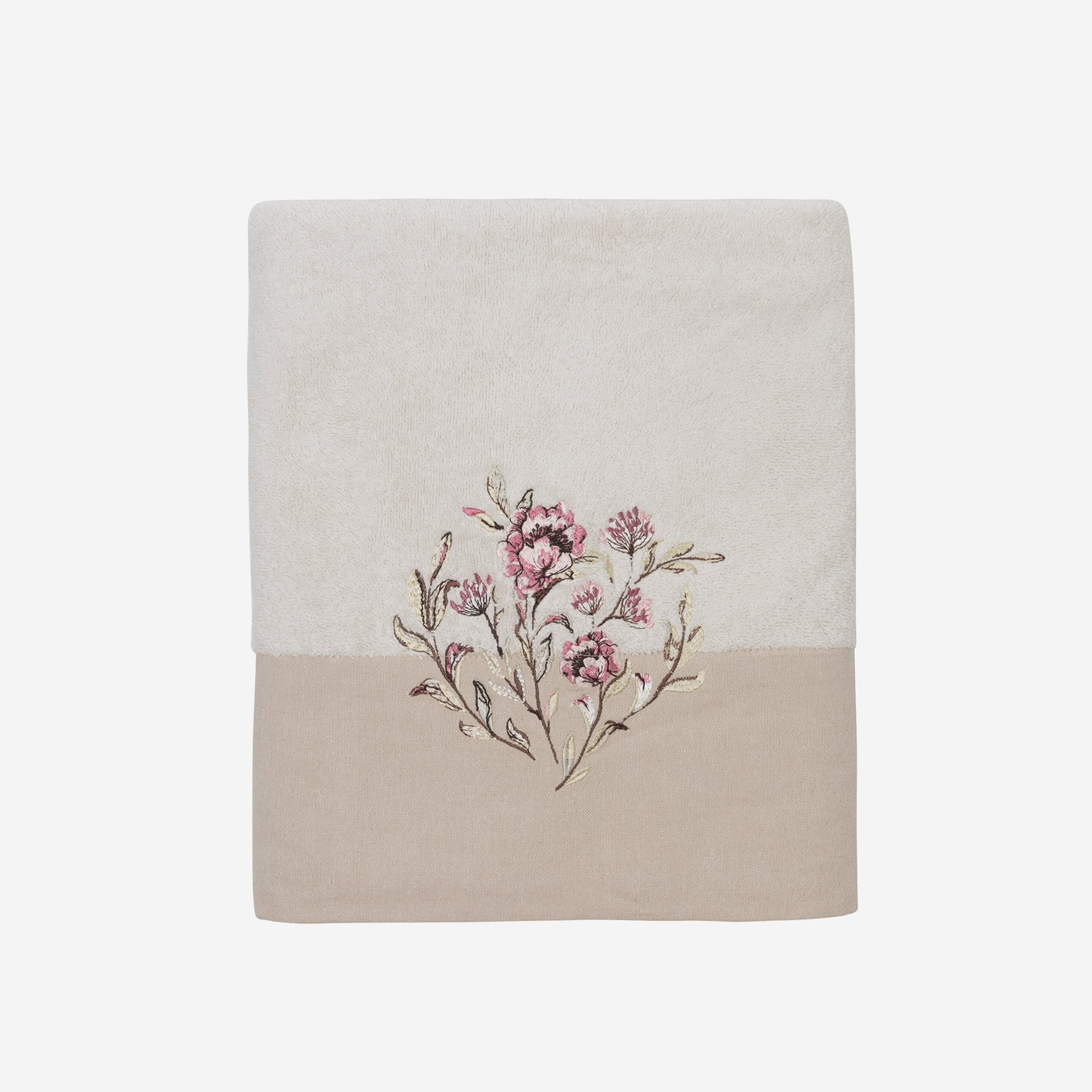 Alene Bath Towel With Lovely Floral Embroidery
