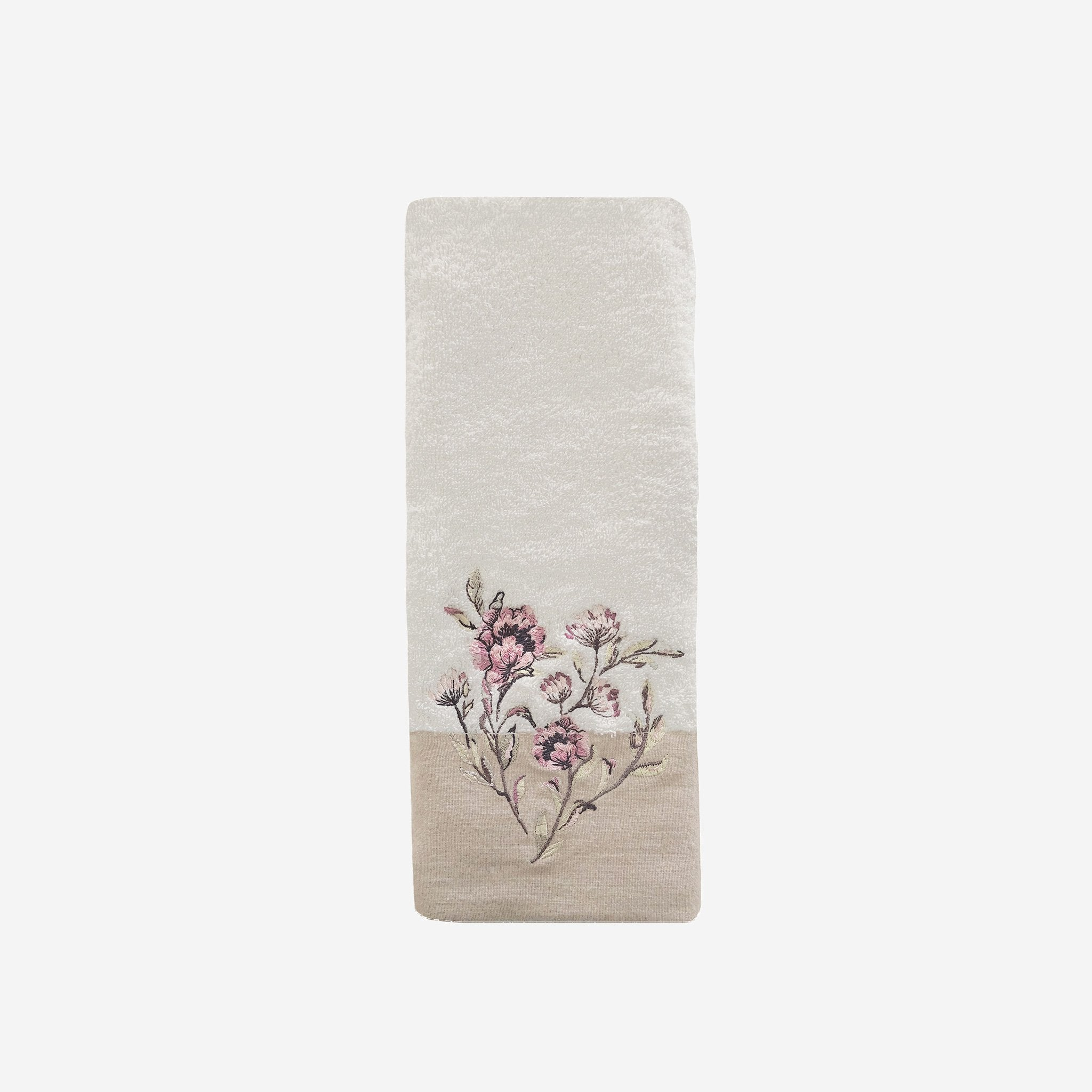"Alene 16"" x 28"" Hand Towel With Floral Embroidery"