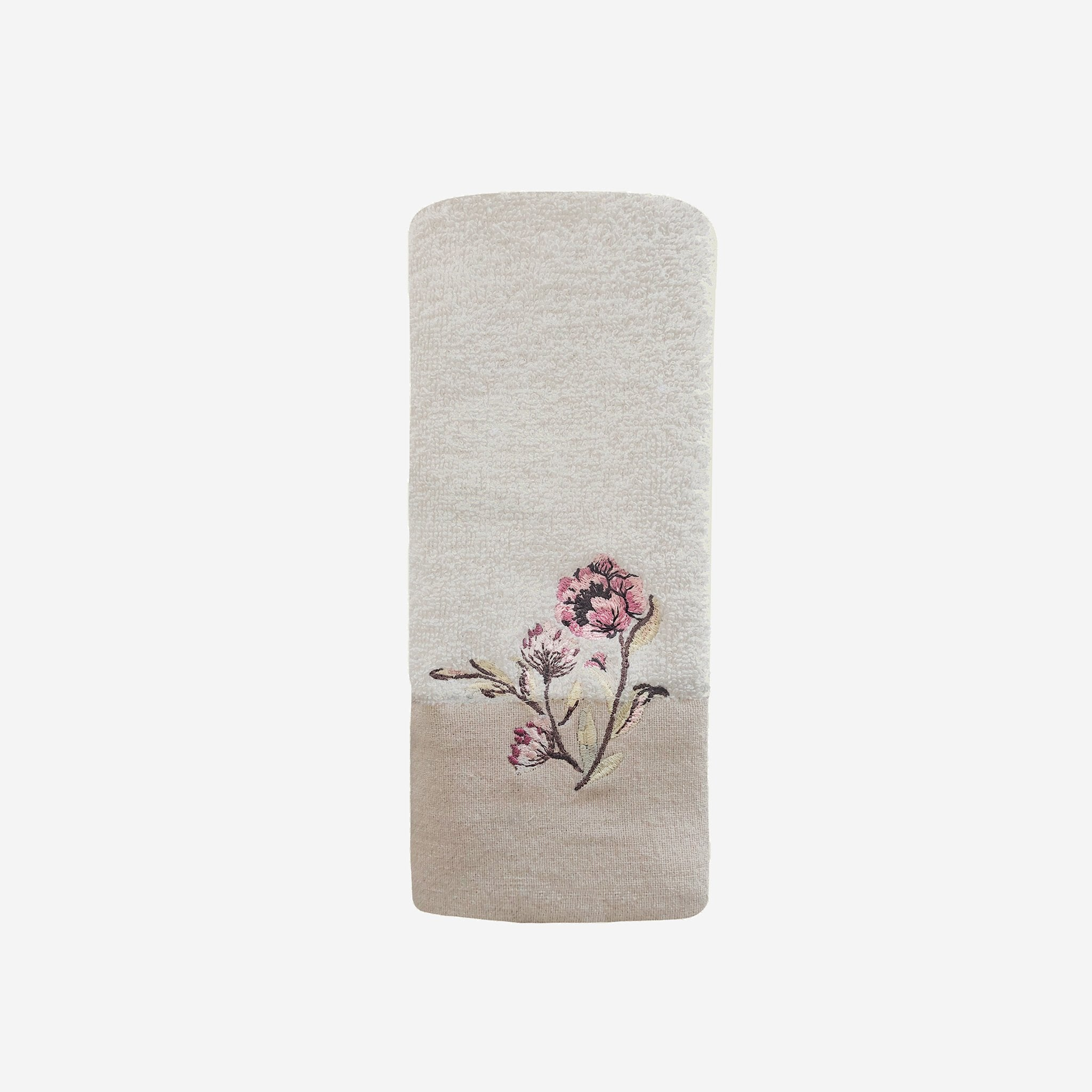 "Alene Fingertip 11"" x 18"" Towel With Floral Embroidery"