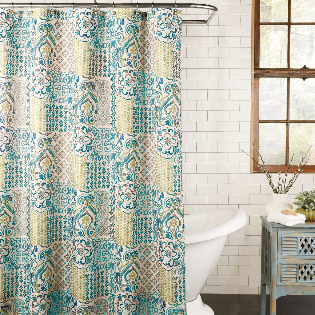 Andorra Fabric Shower Curtain by Excell