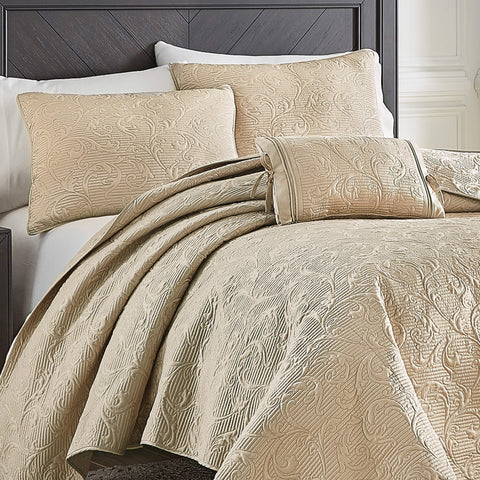 Cosette Taupe Quilt Collection