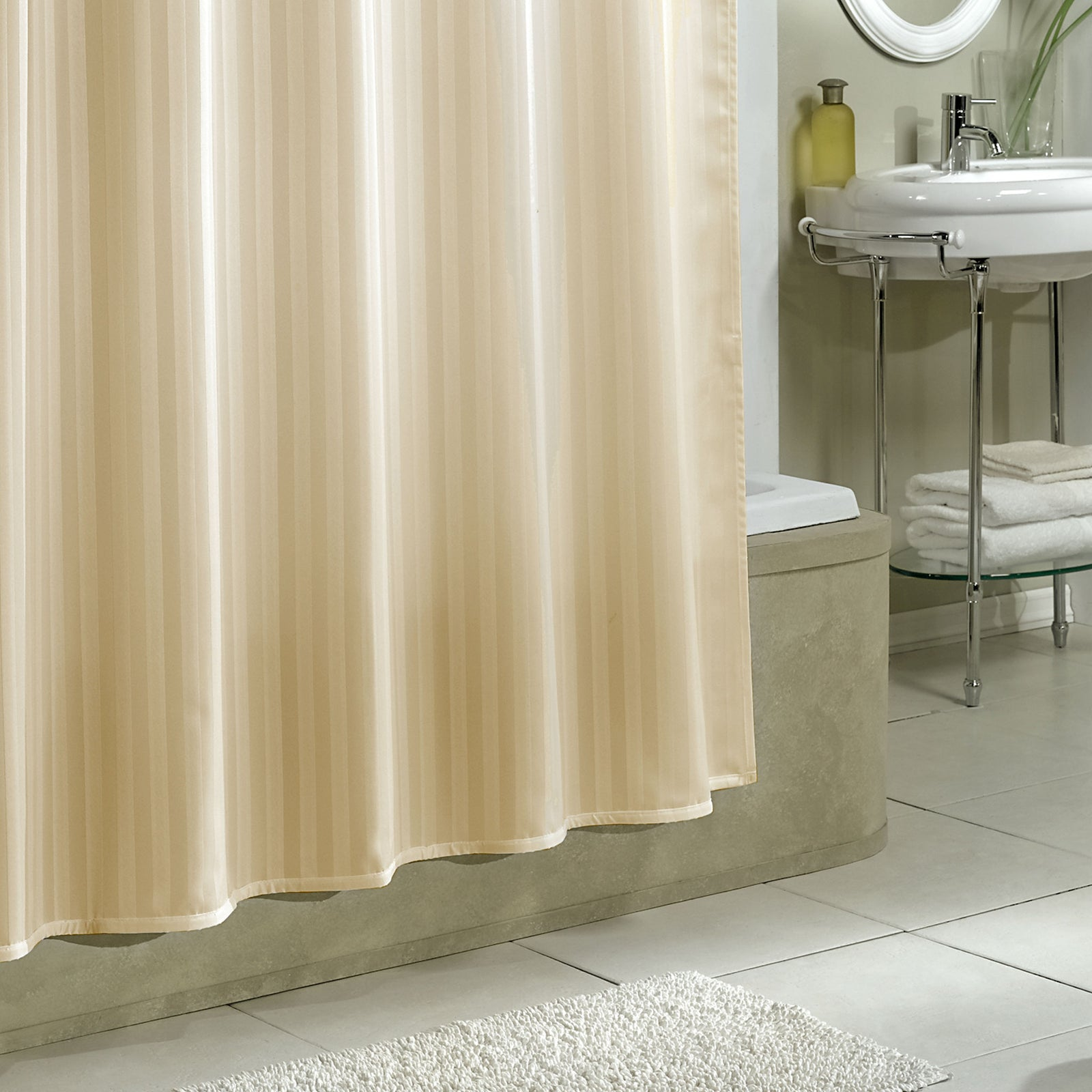 Fabric Shower Curtain Liner Croscill