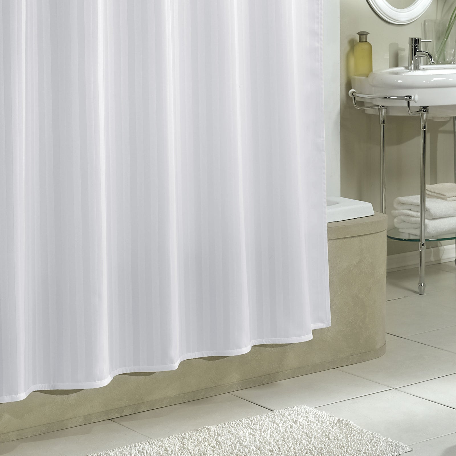 Fabric Shower Curtain Liner 70x72